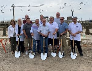Council and Historical Society Board members at Carousel Pavilion and Museum groundbreaking